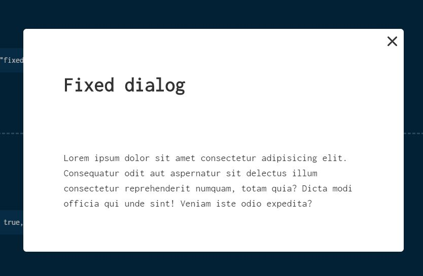 Modern Modal Component With JavaScript And Dialog Element – es6dialog