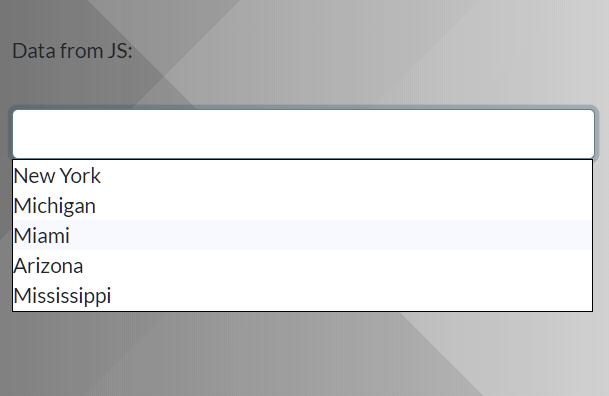 Multi Purpose AJAX Autocomplete In Vanilla JavaScript – bautofill