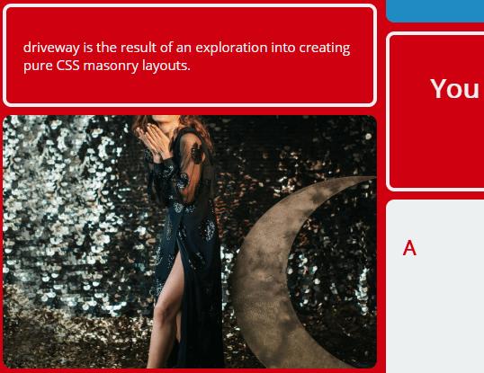 Customizable Masonry Layout In Pure CSS - Driveway.css