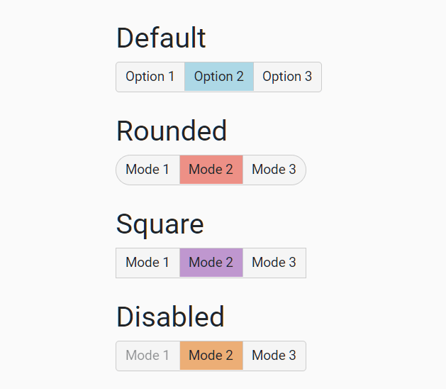 Create Segmented Controls With Radio Buttons – Toggle Radios