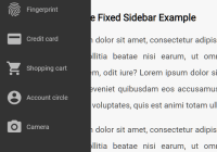 CSS Only Responsive Fixed Sidebar Navigation