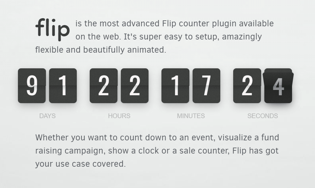 Classic Flip Clock Style Countdown & Counter Library – flip.js