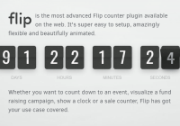 Classic Flip Clock Style Countdown & Counter Library - flip.js
