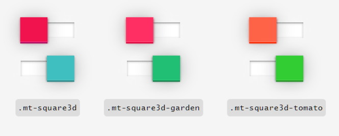MoreToggles.css 3D Square Switches