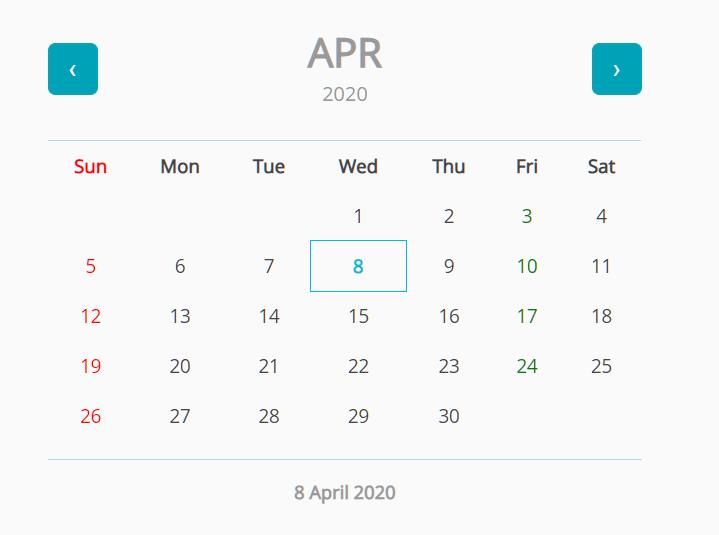 Basic Calendar Date Picker In JavaScript – date-picker.js