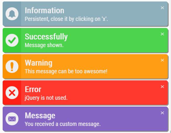 Growl-like Notification Popup In JavaScript – SlimNotifierJs