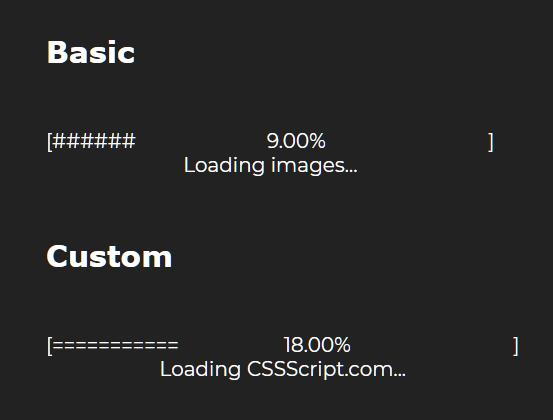 Terminal Style Text Progress Bar In JavaScript – Ascii Loader