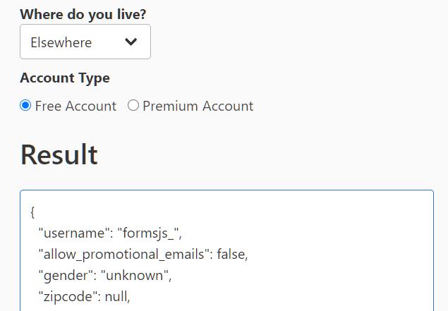 Convert Form Data To JSON – FormsJS