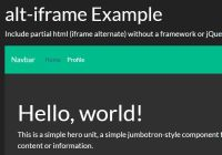 Include HTML From External File - alt-iframe