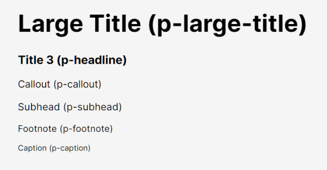 macOS Style UI Framework - Puppertino Typography