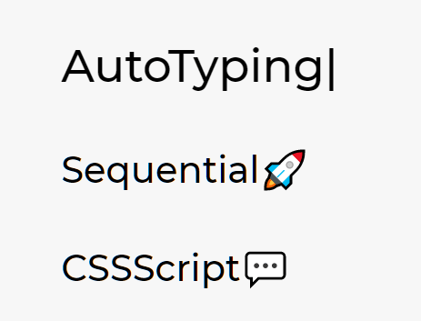 Sequential Text Typing Effect – AutoTyping.js