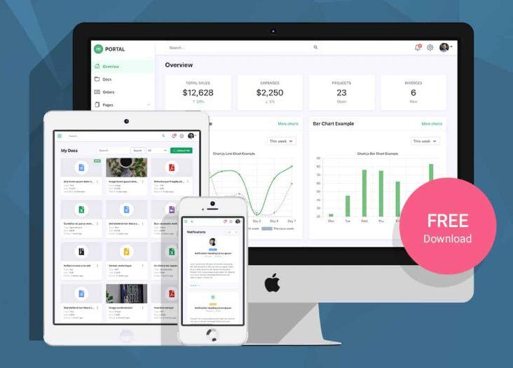 Developer-friendly Bootstrap 5 Admin Kit – Portal