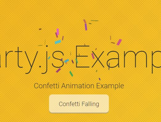 🎉 Simple Celebrate Confetti Animation In JavaScript – Party.js