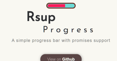 Easy Progress Bar Engine With Promise Support - Rsup Progress