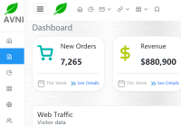 Avni Bootstrap 5 Admin Template Side Nav