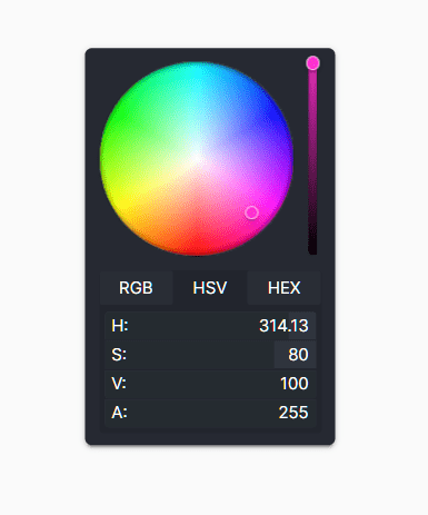 Flat RGB/HEX/HSV Color Picker In JavaScript