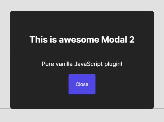 Custom Modal Component In Vanilla JavaScript – AwesomeModal