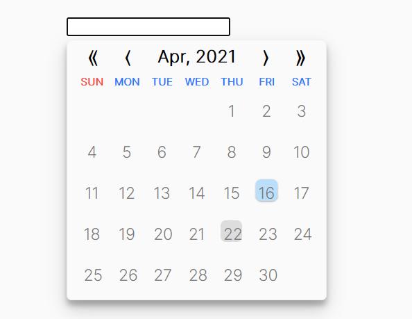 Simplest Date Picker In Vanilla JavaScript – datepicker.js