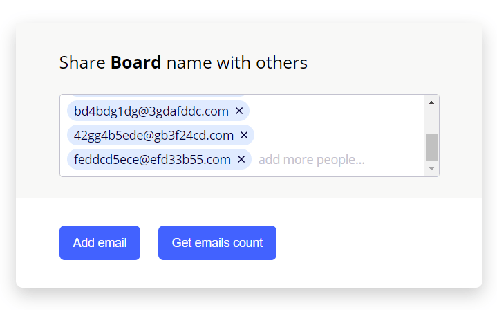 Advanced Multiple Emails Input Component In JavaScript