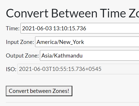 Time Zones And UTC Converter In JavaScript – xtz.js