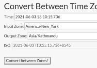 Time Zones And UTC Converter In JavaScript - xtz.js