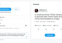 Fake Twitter Tweet Generator In JavaScript