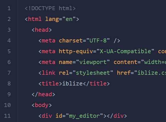 Minimal Clean Code Editor – iblize