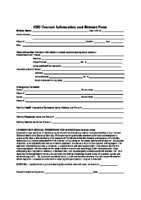 Contact Information and Release Form