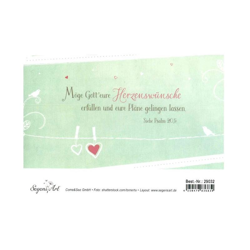 Faltkarte Zur Hochzeit Herzemswünsche