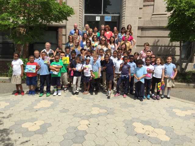 Fletcher Maynard Academy students and their reading buddies from Genzyme and the community