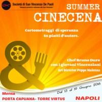 """Cinecena"", cortometraggi di speranza in piatti d'autore"
