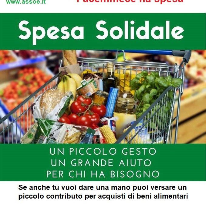 """""""facimmece na spesa"""": catena di solidarietà per le famiglie in difficoltà"""