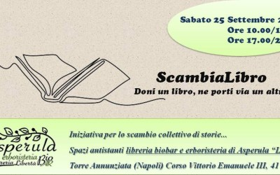 SCAMBIALIBRO, Iniziativa per lo scambio di storie a Torre Annunziata