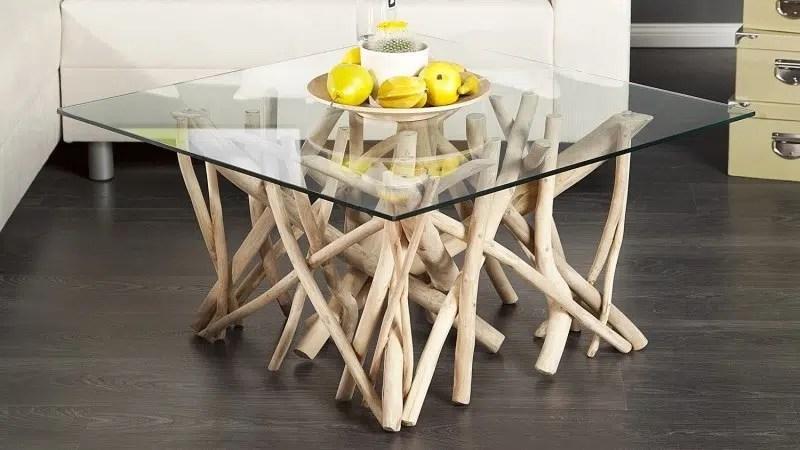 table basse en bois flotte les