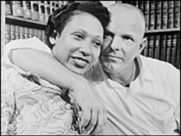 Mildred and Richard Loving - Man with arm around woman