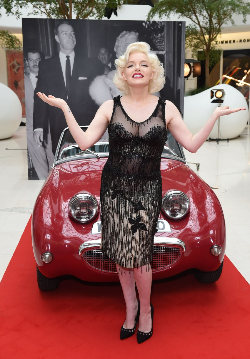 LONDON, ENGLAND - MAY 25: Suzie Kennedy, the world's leading Marilyn Monroe lookalike, launches Marilyn Monroe: Legacy of a Legend exhibition at Design Centre on May 25, 2016 in London, England. Suzie is wearing the actual dress worn by Marilyn in 'Some Like It Hot' excpected to fetch up to $400,000 at Julien's Auctions in November. (Photo by Stuart C. Wilson/Getty Images for Design Centre, Chelsea Harbour ) *** Local Caption *** Suzie Kennedy