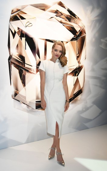 TOKYO, JAPAN - OCTOBER 09: Amanda Seyfried attends the promotional event for Shiseido's Cle de Peau Beaute at the Palace Hotel on October 9, 2015 in Tokyo, Japan. (Photo by Jun Sato/Getty Images for cle de peau BEAUTE) *** Local Caption *** Amanda Seyfried