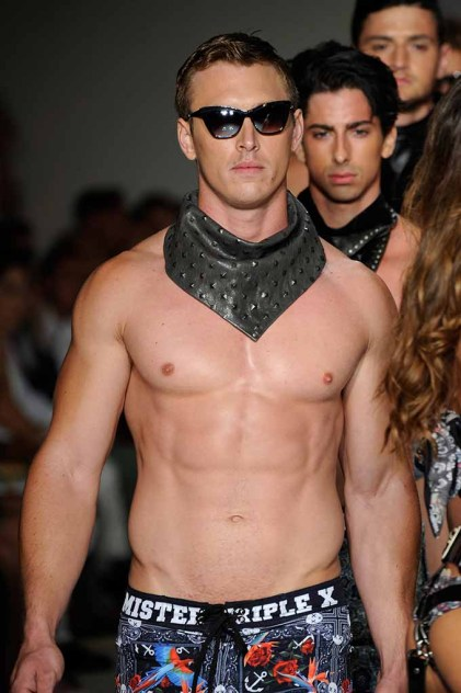 MIAMI BEACH, FL - JULY 14: Modelss walk the runway featuring L.A.M.B. By Gwen Stefani eyewear at Mister Triple X Runway Show during Art Hearts Fashion Miami Swim Week Presented by AIDS Healthcare Foundation at Collins Park on July 14, 2016 in Miami Beach, Florida. (Photo by Arun Nevader/Getty Images for Art Hearts Fashion)