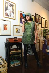 Model Rozana Tamis wears some of the fashions from Workspace Collective in Danbury. The project specializes in sustainable fashion. Soul Threads, upcycled and made in Thomaston