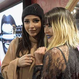 PARIS, FRANCE - JANUARY 23: Sananas and General manager and vice president of Kat Von D Beauty MaiLy Kopatsy attend the Kat Von D Beauty opening weekend with influencers at Sephora Champs-Elysees on January 23, 2017 in Paris, France. (Photo by Dominique Charriau/Getty Images for Sephora) *** Local Caption *** Sananas; MaiLy Kopatsy