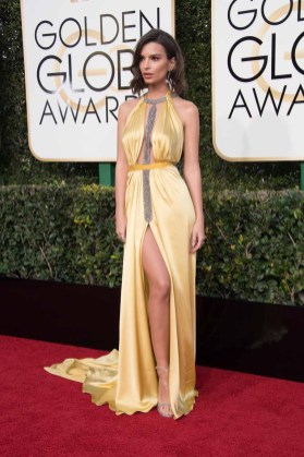 Emily Ratajkowski attends the 74th Annual Golden Globe Awards at the Beverly Hilton in Beverly Hills, CA on Sunday, January 8, 2017.