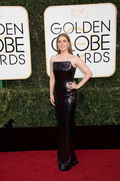 """Nominated for BEST PERFORMANCE BY AN ACTRESS IN A MOTION PICTURE – DRAMA for her role in """"Arrival,"""" actress Amy Adams attends the 74th Annual Golden Globe Awards at the Beverly Hilton in Beverly Hills, CA on Sunday, January 8, 2017."""
