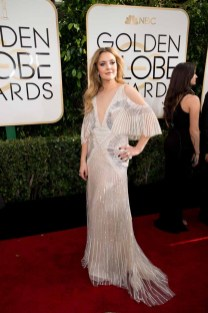 Drew Barrymore attends the 74th Annual Golden Globes Awards at the Beverly Hilton in Beverly Hills, CA on Sunday, January 8, 2017.