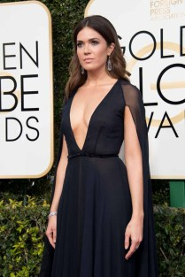 """Nominated for BEST PERFORMANCE BY AN ACTRESS IN A SUPPORTING ROLE IN A SERIES, MINI-SERIES OR MOTION PICTURE MADE FOR TELEVISION for her role in """"This Is Us,"""" actress Mandy Moore attends the 74th Annual Golden Globes Awards at the Beverly Hilton in Beverly Hills, CA on Sunday, January 8, 2017."""
