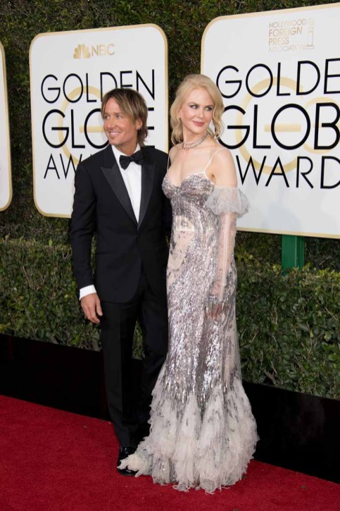 Keith Urban and Nicole Kidman attend the 74th Annual Golden Globe Awards at The Beverly Hilton Hotel on January 8, 2017 in Beverly Hills, California.