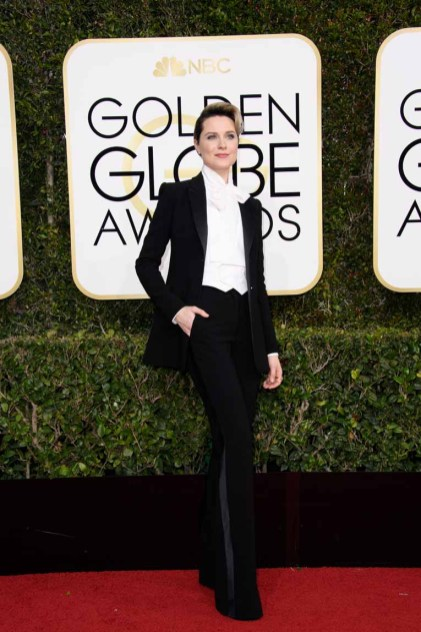 """Nominated for BEST PERFORMANCE BY AN ACTRESS IN A TELEVISION SERIES – DRAMA for her role in """"Westworld,"""" actress Evan Rachel Wood attends the 74th Annual Golden Globes Awards at the Beverly Hilton in Beverly Hills, CA on Sunday, January 8, 2017."""