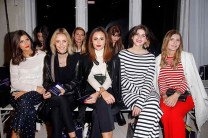 BERLIN, GERMANY - JANUARY 18: (L-R) Valerie Husemann, Lisa Hahnbueck, Laura Noltemeyer, Michele Kruesi and Magdalena Ilic attend the Laurel show during the Mercedes-Benz Fashion Week Berlin A/W 2017 at Kaufhaus Jandorf on January 18, 2017 in Berlin, Germany. (Photo by Isa Foltin/Getty Images for Laurel) *** Local Caption *** Valerie Husemann;Lisa Hahnbrueck;Laura Noltemeyer;Michele Kruesi;Magdalena Ilic