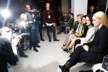 BERLIN, GERMANY - JANUARY 18: (R-L) Judith Rakers, Stephanie Stumph, Viktoria Lauterbach, Ursula Karven and Alexandra Neldel attend the Laurel show during the Mercedes-Benz Fashion Week Berlin A/W 2017 at Kaufhaus Jandorf on January 18, 2017 in Berlin, Germany. (Photo by Franziska Krug/Getty Images for Laurel) *** Local Caption *** Alexandra Neldel;Ursula Karven;Viktoria Lauterbach;Stephanie Stump;Judith Rakers