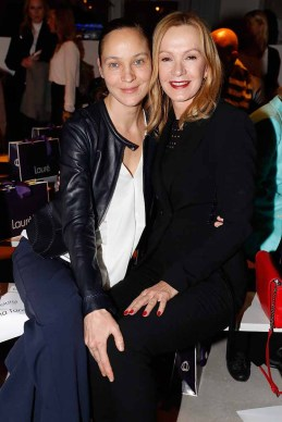 BERLIN, GERMANY - JANUARY 18: (L-R) Jeanette Hain and Katja Flint attend the Laurel show during the Mercedes-Benz Fashion Week Berlin A/W 2017 at Kaufhaus Jandorf on January 18, 2017 in Berlin, Germany. (Photo by Franziska Krug/Getty Images for Laurel) *** Local Caption *** Jeanette Hain;Katja Flint
