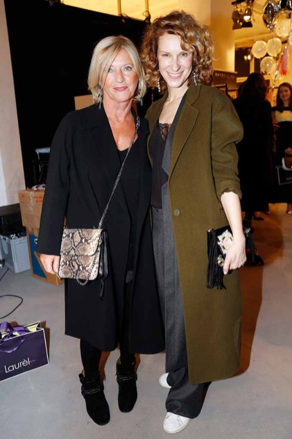 BERLIN, GERMANY - JANUARY 18: (L-R) Designer Elisabeth Schwaiger and Chiara Schoras attend the Laurel show during the Mercedes-Benz Fashion Week Berlin A/W 2017 at Kaufhaus Jandorf on January 18, 2017 in Berlin, Germany. (Photo by Franziska Krug/Getty Images for Laurel) *** Local Caption *** Elisabeth Schwaiger;Chiara Schoras